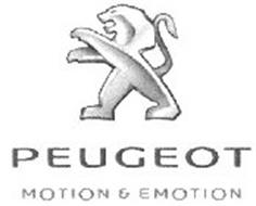 peugeot motion & emotion trademark of automobiles peugeot. serial