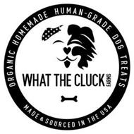 WHAT THE CLUCK FARMS ALL NATURAL HOMEMADE HUMAN-GRADE DOG TREATS MADE & SOURCED IN THE USA