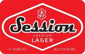 SESSION PREMIUM LAGER FS 47 11 FLUID OZ. ALC 5.1% BY VOL.