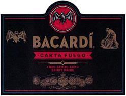 BACARDI CARTA FUEGO RED SPICED RUM SPIRIT DRINK