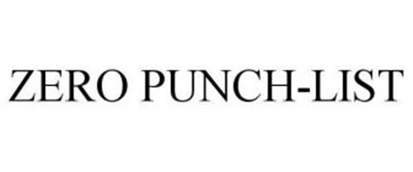 ZERO PUNCH-LIST