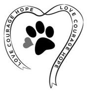 LOVE COURAGE HOPE LOVE COURAGE HOPE