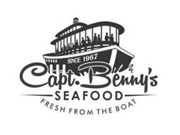 CAPT. BENNY'S SEAFOOD FRESH FROM THE BOAT SINCE 1967