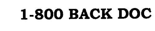 1-800 BACK DOC