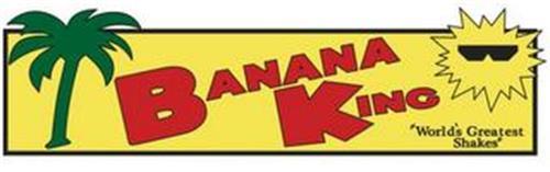 """BANANA KING """"WORLD'S GREATEST SHAKES"""""""