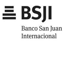 BSJI BANCO SAN JUAN INTERNACIONAL