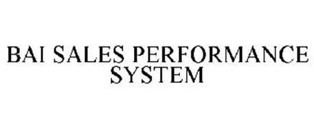 BAI SALES PERFORMANCE SYSTEM