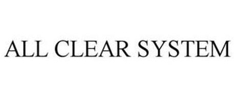 ALL CLEAR SYSTEM