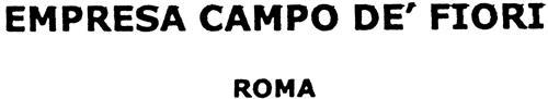 EMPRESA CAMPO DE' FIORI ROMA
