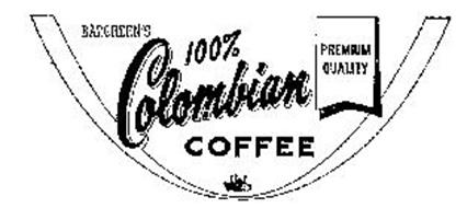 BARGREEN'S 100% COLOMBIAN COFFEE PREMIUM QUALITY