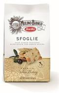 MULINO BIANCO BARILLA - SFOGLIE OVEN BAKED CRACKERS WITH BLACK AND GREEN OLIVES - PREMIUM ITALIAN BAKERY - PRODUCT OF ITALY