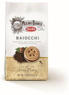 MULINO BIANCO BARILLA BAIOCCHI HAZELNUTAND COCOA CRÈME SANDWICH COOKIE PREMIUM ITALIAN BAKERY PRODUCT OF ITALY NET WT 5.29OZ(150GE)