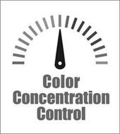 COLOR CONCENTRATION CONTROL