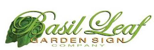 BASIL LEAF GARDEN SIGN COMPANY