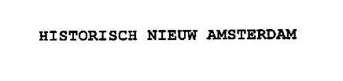HISTORISCH NIEUW AMSTERDAM