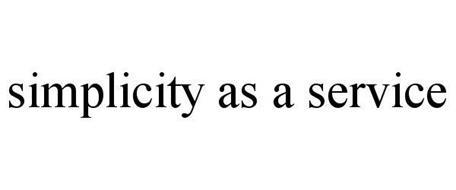 SIMPLICITY AS A SERVICE