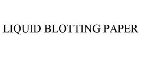 LIQUID BLOTTING PAPER