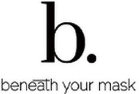 B. BENEATH YOUR MASK
