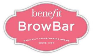 BENEFIT BROWBAR MAGICALLY TRANSFORMING BROWS SINCE 1976