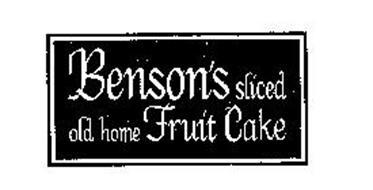 Benson S Sliced Old Home Fruit Cake Trademark Of Benson S