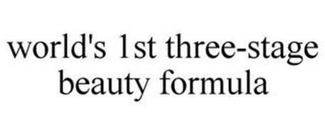 WORLD'S 1ST THREE-STAGE BEAUTY FORMULA