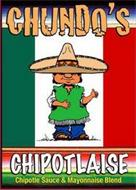 CHUNDO'S CHIPOTLAISE CHIPOTLE SAUCE & MAYONNAISE BLEND