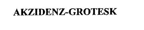 AKZIDENZ-GROTESK