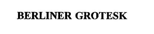 BERLINER GROTESK