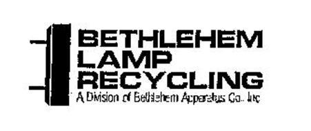 BETHLEHEM LAMP RECYCLING A DIVISION OF BETHLEHEM APPARATUS CO., INC.