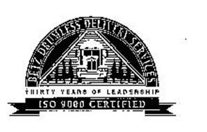 BETZ DRUMLESS DELIVERY SERVICES THIRTY YEARS OF LEADERSHIP ISO 9000 CERTIFIED