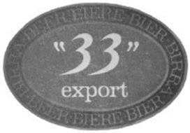 """BEER BIÈRE BIER BIRRA """"33"""" EXPORT"""