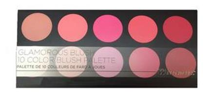GLAMOROUS BLUSH 10 COLOR BLUSH PALETTE PALETTE DE 10 COULEURS DE FARD A JOUES BHCOSMETICS