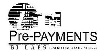 ITM PRE- PAYMENTS B I L A B S TECHNOLOGY FOR THE SENSES