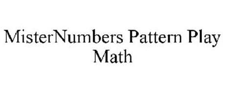 MISTERNUMBERS PATTERN PLAY MATH