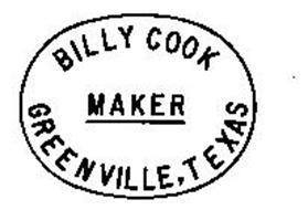 BILLY COOK MAKER GREENVILLE, TEXAS