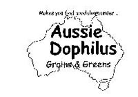 AUSSIE DOPHILLUS MAKES YOU FEEL GOOD DOWN UNDER GRAINS AND GREENS