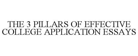 THE 3 PILLARS OF EFFECTIVE COLLEGE APPLICATION ESSAYS