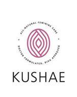 KUSHAE · ALL-NATURAL FEMININE CARE · DOCTOR FORMULATED, DIVA APPROVED