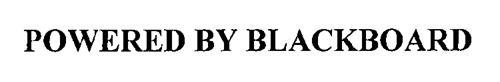 POWERED BY BLACKBOARD