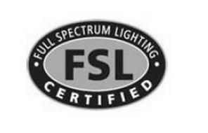 ·FULL SPECTRUM LIGHTING· FSL CERTIFIED