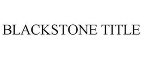 BLACKSTONE TITLE