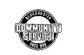 BLOCKBUSTER COMMUNITY SERVICE FREE USE