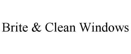 BRITE & CLEAN WINDOWS