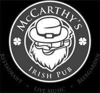 MCCARTHY'S IRISH PUB RESTAURANT · LIVE MUSIC · BEERGARDEN