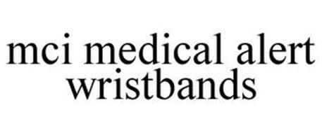 MCI MEDICAL ALERT WRISTBANDS