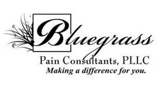 BLUEGRASS PAIN CONSULTANTS, PLLC MAKINGA DIFFERENCE FOR YOU.