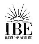 IBE INSTITUTE OF BIBLICAL EDUCATION