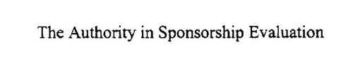 THE AUTHORITY IN SPONSORSHIP EVALUATION