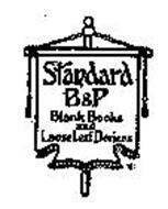STANDARD B & P BLANK BOOKS AND LOOSE LEAF DEVICES