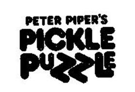 PETER PIPER'S PICKLE PUZZLE
